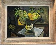 Mesa Con Frutas 1988 30x37 Original Painting by Jesus Fuertes - 1