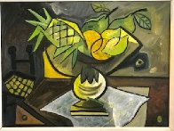 Mesa Con Frutas 1988 30x37 Original Painting by Jesus Fuertes - 0