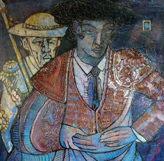 El Torero 40x40 Original Painting by Jesus Fuertes