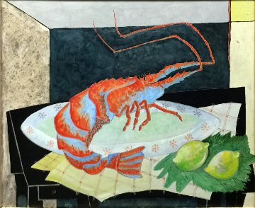 Crustaceo 1987 20x24 Original Painting - Jesus Fuertes