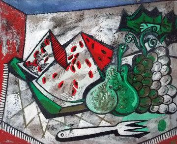 Frutus Sugestivas  1991 24x20 Original Painting by Jesus Fuertes