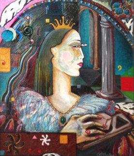 If I Were King  1988 28x32 Original Painting - Jett Jackson