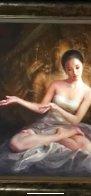 Temple Dancer Original 2004 24x24 Original Painting by Jia Lu - 1
