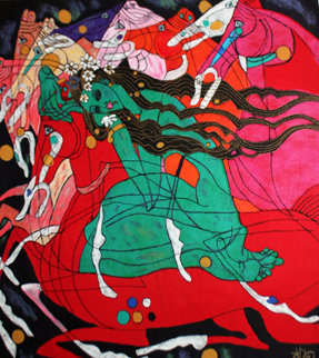 Emerald Lady 1983 Limited Edition Print by Tie-Feng Jiang