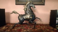 Black Horse Bronze Sculpture 1988 20 in Sculpture by Tie-Feng Jiang - 2