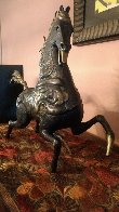 Black Horse Bronze Sculpture 1988 20 in Sculpture by Tie-Feng Jiang - 1
