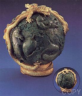 Genesis Bronze Sculpture 1998 14 in Sculpture by Tie-Feng Jiang