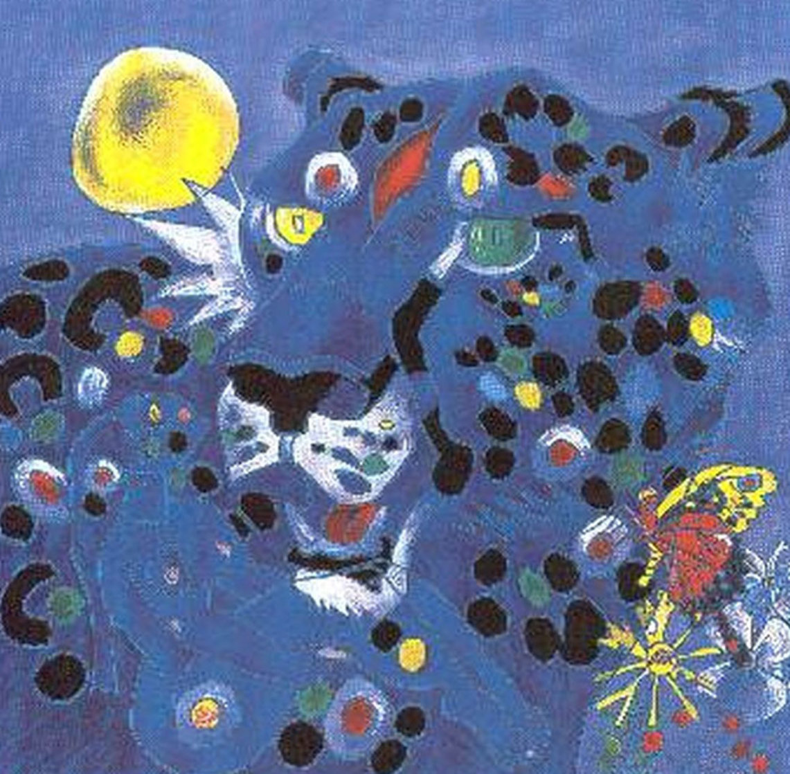 Vision-Blue Cat 2001 Limited Edition Print by Tie-Feng Jiang