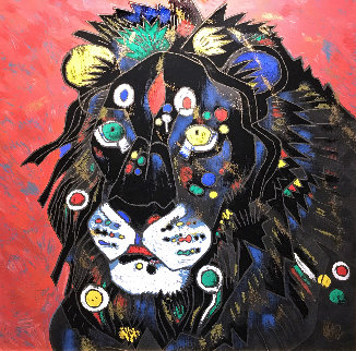 King 1997 Embellished Limited Edition Print by Tie-Feng Jiang
