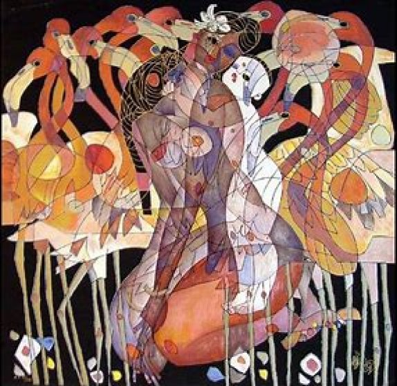 Mother and Child 2000 Limited Edition Print by Tie-Feng Jiang