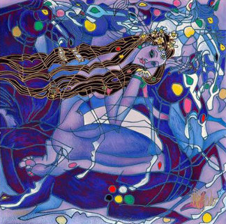 Sweet Lady Suite - Purple State 2001 Limited Edition Print by Tie-Feng Jiang