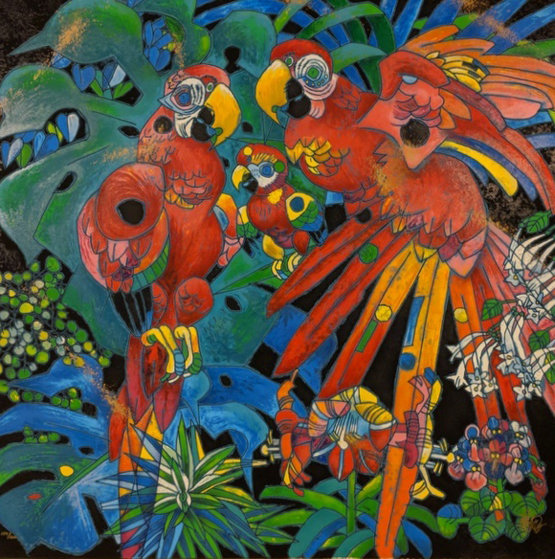 Birds of Paradise 1997 Limited Edition Print by Tie-Feng Jiang