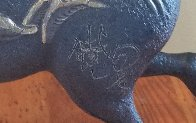 Black Horse Bronze Sculpture 1988 20 in Sculpture by Tie-Feng Jiang - 4