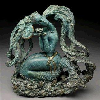 Mermaid: Bronze Sculpture 1987 17 in Sculpture - Tie-Feng Jiang