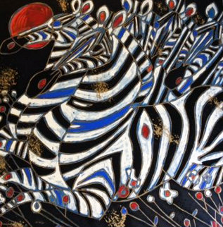 Imperial Zebras AP 1992 Limited Edition Print by Tie-Feng Jiang