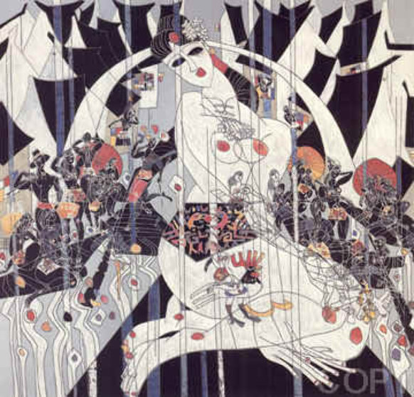 Girl Of Souzhou 1988 Limited Edition Print by Tie-Feng Jiang