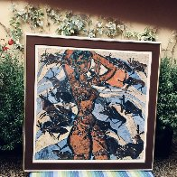 Earth Mother 1985 50x60 Super Huge Original Painting by Tie-Feng Jiang - 1