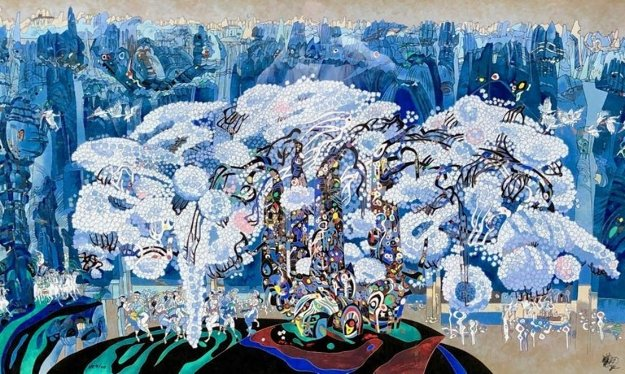 Stone Forest 1991 Limited Edition Print by Tie-Feng Jiang
