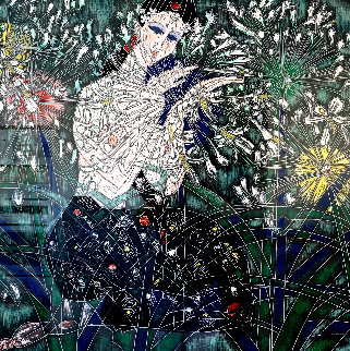 Morning Flowers 1990 Limited Edition Print - Tie-Feng Jiang