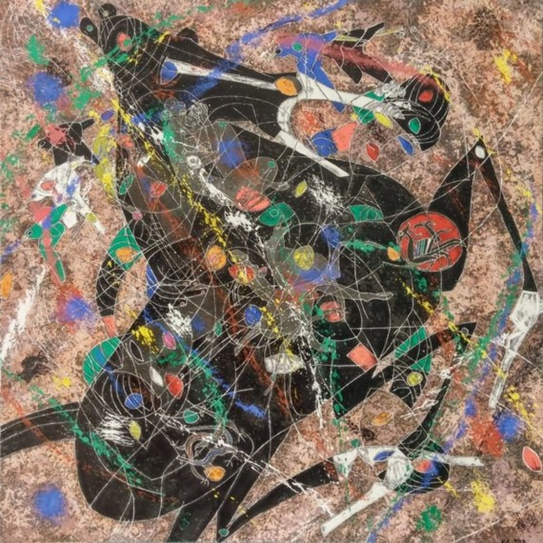 Black Horse 1988 Limited Edition Print by Tie-Feng Jiang