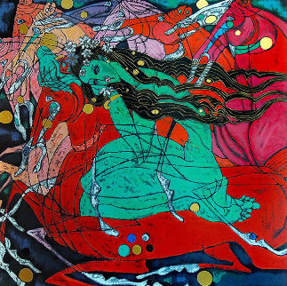 Emerald Lady 1980 Limited Edition Print - Tie-Feng Jiang