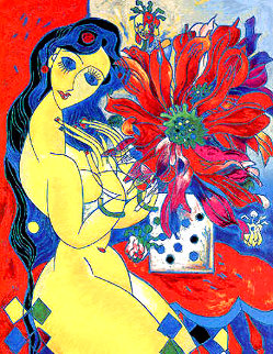 Beauty & Flowers AP 1994 Limited Edition Print - Tie-Feng Jiang
