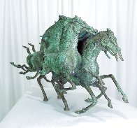 Emerald Lady Bronze Sculpture 1986 16 in Sculpture by Tie-Feng Jiang - 2