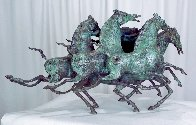 Emerald Lady Bronze Sculpture 1986 16 in Sculpture by Tie-Feng Jiang - 4