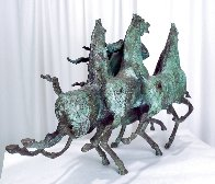 Emerald Lady Bronze Sculpture 1986 16 in Sculpture by Tie-Feng Jiang - 5