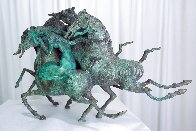 Emerald Lady Bronze Sculpture 1986 16 in Sculpture by Tie-Feng Jiang - 6