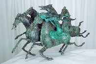 Emerald Lady Bronze Sculpture 1986 16 in Sculpture by Tie-Feng Jiang - 7