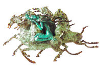 Emerald Lady Bronze Sculpture 1986 16 in Sculpture by Tie-Feng Jiang - 0