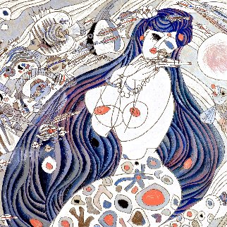 White Mermaid AP 1988 Limited Edition Print - Tie-Feng Jiang