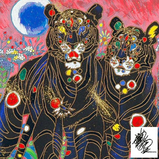 Tiger Couple 1998 Limited Edition Print by Tie-Feng Jiang