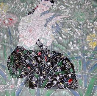 Morning Flowers 1990 Limited Edition Print by Tie-Feng Jiang