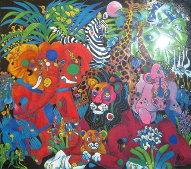 My World 1994 Limited Edition Print by Tie-Feng Jiang