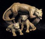 Leopard Family Sculpture 1999 Sculpture - Tie-Feng Jiang