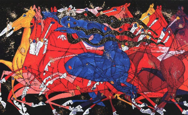 Blue Lady AP 1990 Limited Edition Print by Tie-Feng Jiang