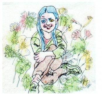 Innocence Watercolor 28x28 Watercolor - Tie-Feng Jiang