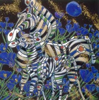 Joy, Caress, Nobility, Life suite if 4 1992 Limited Edition Print by Tie-Feng Jiang