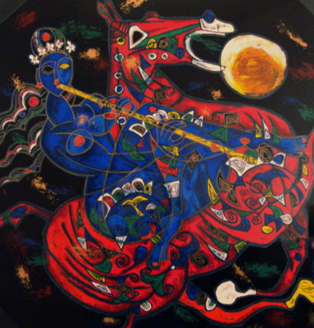 Freedom Suite of 2 1991 Limited Edition Print by Tie-Feng Jiang