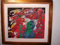 Riders Symphony 1991 42x47 Super Huge Original Painting by Tie-Feng Jiang - 1