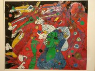 Riders Symphony 1991 42x47 Super Huge Original Painting by Tie-Feng Jiang - 2