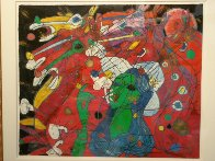 Riders Symphony 1991 42x47 Super Huge Original Painting by Tie-Feng Jiang - 3