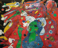 Riders Symphony 1991 42x47 Super Huge Original Painting by Tie-Feng Jiang - 0