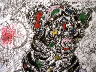 Youthful Strength 2011 33x33 Original Painting by Tie-Feng Jiang - 2