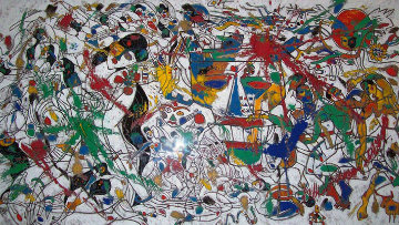 Untitled Painting 1988  41x72 Super Huge Original Painting - Tie-Feng Jiang