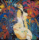 Girl in Jungle 1988 50x51 Original Painting by Tie-Feng Jiang - 0