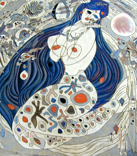 White Mermaid 1988 Limited Edition Print by Tie-Feng Jiang