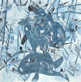 Coming of Spring 1986 54x55 Huge Original Painting - Tie-Feng Jiang